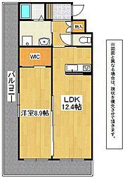 福岡県北九州市小倉北区浅野3丁目の賃貸マンションの間取り