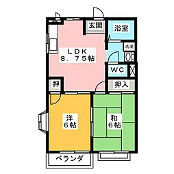 K'S HOUSE[2階]の間取り