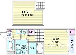 仙台市営南北線 長町一丁目駅 徒歩11分の賃貸アパート 1階ワンルームの間取り