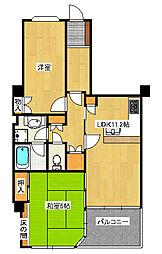 エクシール東宿郷[3階]の間取り