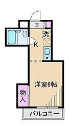 東京都北区上中里2丁目の賃貸マンションの間取り