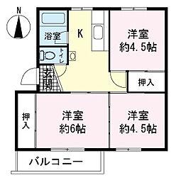 イシワタ第2ビル[3階]の間取り