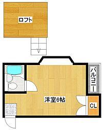 フォンタルT1[4階]の間取り