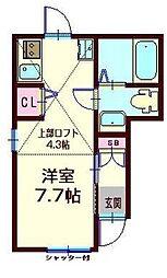 コンフォール横浜[101号室]の間取り