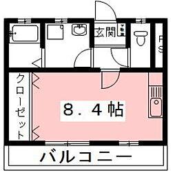 岐阜県各務原市三井北町2丁目の賃貸アパートの間取り