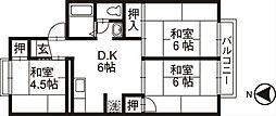 セジュールN B棟[201号室]の間取り