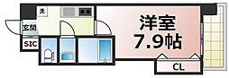 Osaka Metro千日前線 今里駅 徒歩3分の賃貸マンション 5階1Kの間取り