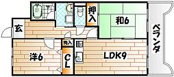 ルネッサンス宮の尾I[2階]の間取り