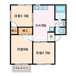 メゾンきんごろーA棟[2階]の間取り