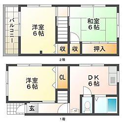 [一戸建] 兵庫県神戸市垂水区塩屋町5丁目 の賃貸【/】の間取り