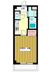 兵庫県神戸市灘区高羽町3丁目の賃貸マンションの間取り