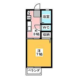 ディアスK[1階]の間取り