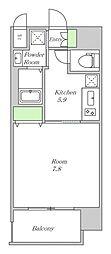阪神本線 姫島駅 徒歩5分の賃貸マンション 5階1Kの間取り