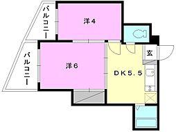 福音寺マンション[202 号室号室]の間取り