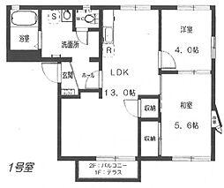 グリーンアペックスC[1階]の間取り