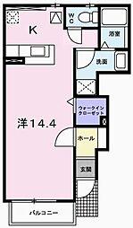 カーサフィオーレ浜田[1階]の間取り