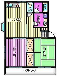 埼玉県さいたま市西区三橋5丁目の賃貸アパートの間取り