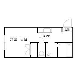 北海道札幌市北区北二十条西4丁目の賃貸マンションの間取り
