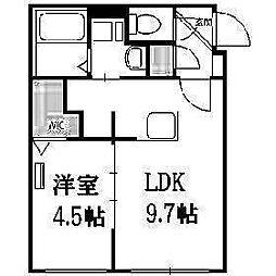 北海道札幌市豊平区平岸二条1丁目の賃貸マンションの間取り