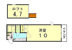 Stage-door[403号室]の間取り