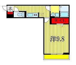 (仮称)D-room幕張本郷3-4 3階1Kの間取り