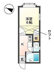 愛知県清須市春日振形の賃貸アパートの間取り