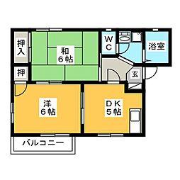 クレール飯田[B101号室]の間取り