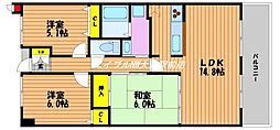 アルファステイツ野田[4階]の間取り