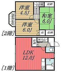 [タウンハウス] 千葉県千葉市中央区汐見丘町 の賃貸【/】の間取り