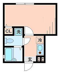 東京都杉並区南荻窪2丁目の賃貸アパートの間取り