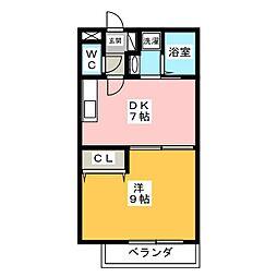 テスタエスポワールC棟[2階]の間取り