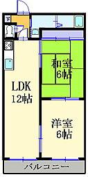 岡山県総社市駅前の賃貸アパートの間取り