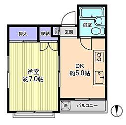 ミドリヤサニーマンション[6階]の間取り