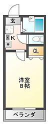 センターフィールドIII[2階]の間取り