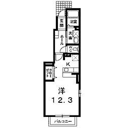 ラ・フォート[1階]の間取り