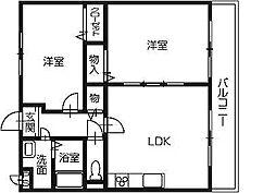 マリベール桜木[3階]の間取り