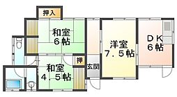 [一戸建] 兵庫県神戸市垂水区王居殿3丁目 の賃貸【兵庫県 / 神戸市垂水区】の間取り