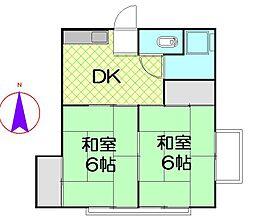 長谷川荘[202号室]の間取り