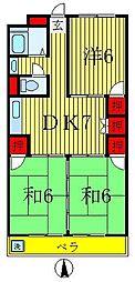 第二スカイハイツ[5階]の間取り