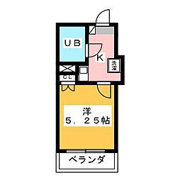 ロイヤルマンション磐田[4階]の間取り