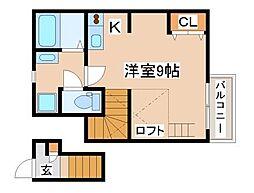 山陽電鉄本線 山陽須磨駅 徒歩9分の賃貸マンション 2階ワンルームの間取り
