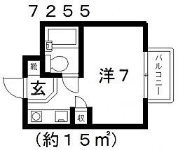オリーブハウスI[405号室号室]の間取り