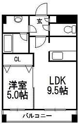 KGスクエアS6[1203号室]の間取り