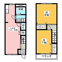 [テラスハウス] 静岡県浜松市北区東三方町 の賃貸【/】の間取り