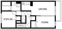兵庫県西宮市荒木町の賃貸アパートの間取り