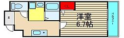 システムコート戎本町[5階]の間取り