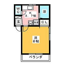 MWハイツII[1階]の間取り