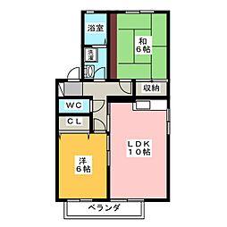 ブライトコートB[1階]の間取り