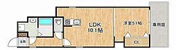 阪神本線 住吉駅 徒歩3分の賃貸アパート 1階1LDKの間取り