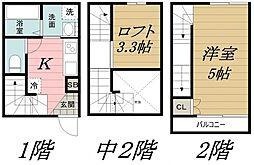千葉県千葉市中央区末広3丁目の賃貸アパートの間取り